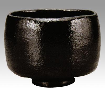 茶道具 楽茶碗 重要文化財 黒茶碗 大黒写 並 佐々木昭楽作