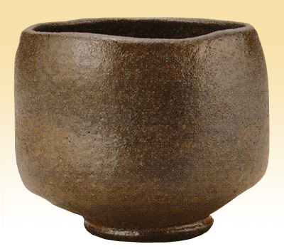 茶道具 楽茶碗 初代 長次郎 黒茶碗 銘「禿」写佐々木昭楽作