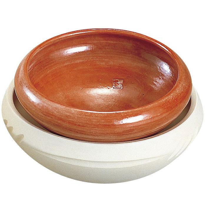 茶道具 七事式半田ホーロクセット 赤・白組「長火箸・底取付き」