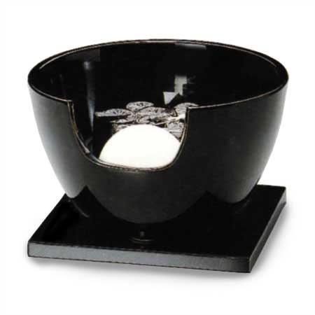 【茶道具 電熱風炉/ヤマキ電気】紅鉢風炉 黒 強弱切替スイッチ付き(電気炭、敷板、まえかわらけ付き)