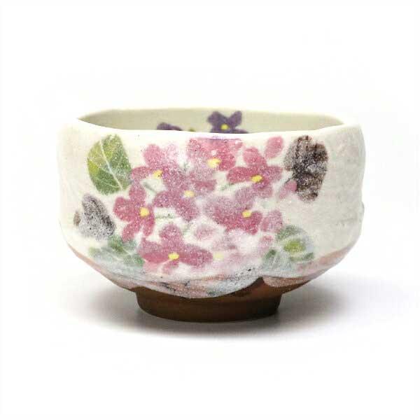 茶道具 抹茶碗 小茶碗 野点茶碗 豊窯作 紫陽花 期間限定特価品 チープ おしゃれ