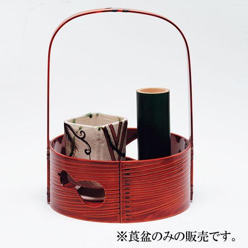 茶道具 莨盆・煙草盆 瓢透手付莨盆 春慶塗 春次作
