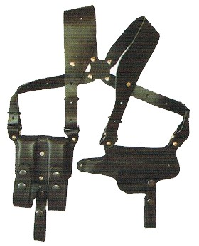 ホリゾンタル革製 ショルダーホルスター (ブラック) ダイ・ハード ベレッタ M92F 対応 (No.281) イースト・A
