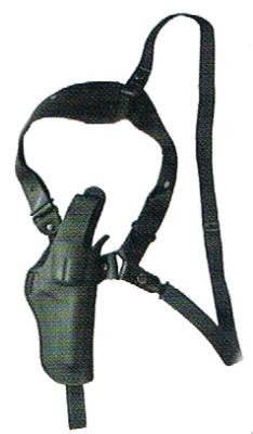 リボルバー 3.5in~4in 革製 ショルダーホルスター (黒) コルト パイソン S&W など (No.S232) コスプレにもネ! イースト・A