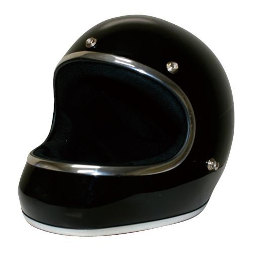 【DAMMTRAX[ダムトラックス]】 アキラ ブラック 黒 メンズ Mサイズ(57cm~58cm) バイク用 ヘルメット