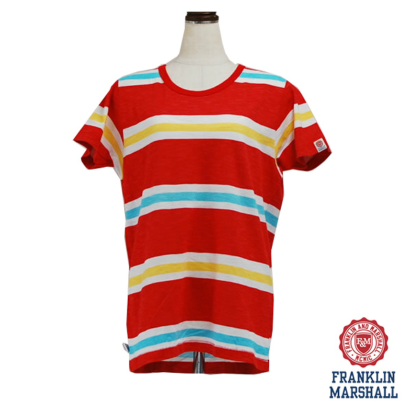 FRANKLIN MARSHALL フランクリン マーシャル 39181-4048 ボーダーTシャツ 半袖 メンズ イタリア