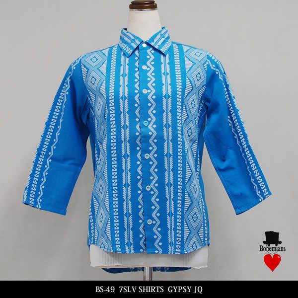 BOHEMIANS ボヘミアンズ GYPSY JQ 7-SLV SHIRTS 7分袖シャツ UNISEX XSサイズ