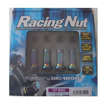 ZERO1000 レーシングホイールナット 45mm ロング 5穴用 20本入り M12×P1.25 707-B002