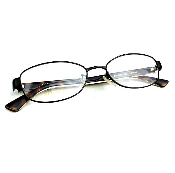グッチ メガネ 眼鏡 めがね GUCCI 新品同様 茶 べっ甲 k859 【中古】