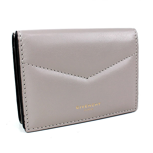 ジバンシィ ジバンシー ミニ財布 三つ折り財布 グレージュ 極美品 k726 【中古】