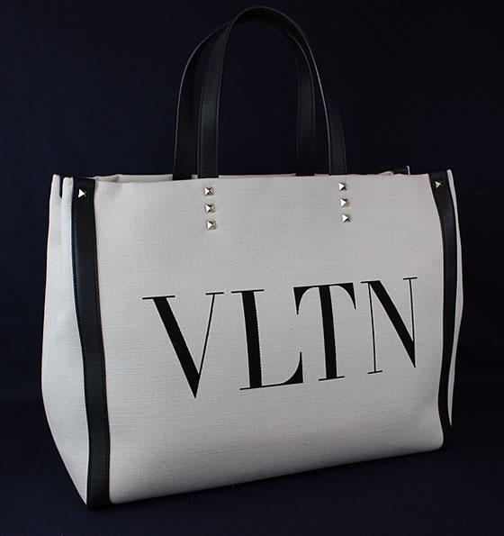 ヴァレンティノ バレンチノ トートバッグ ハンドバッグ キャンバス ロゴ 極美品 k518 【中古】