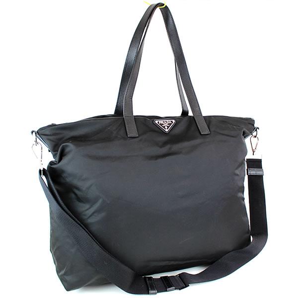 プラダ トートバッグ ハンドバッグ ビジネスバッグ 書類かばん 黒 ナイロン 2VG024 極美品 k548 【中古】