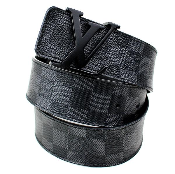 ルイヴィトン ダミエグラフィット ベルト ブラック サンチュール 美品 k576 【中古】