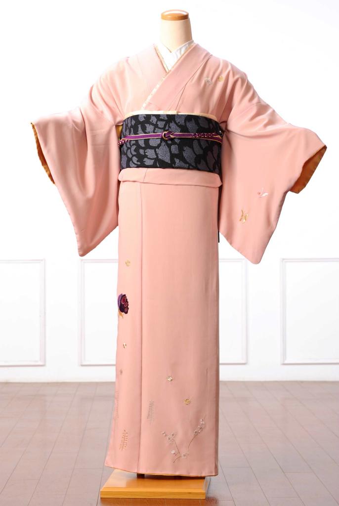 ツモリチサト tsumori chisato 訪問着 レンタル 着物レンタル レンタル着物 訪問着レンタルフルセット 8AD24 着物 着物 貸衣装 ピンク ネコモチーフ 149cm~167cm位まで 足袋・肌着プレゼント