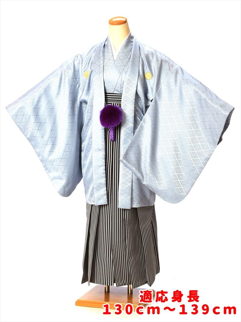 【レンタル】小学生 卒業式 袴 子供用紋付袴セットレンタル8AQS05 ジュニア 小学校 男の子 着物