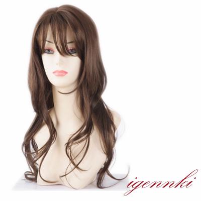 ウィッグ ウイッグ 人毛100% 【私元気】●優雅な姿が魅力的な  人毛 ロング  (L12A8JH)オーダーメイド!ネット付き