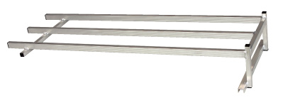 ハラックス コン助ラック NC-45 コン助専用 2段アタッチメント 120cm(有効)