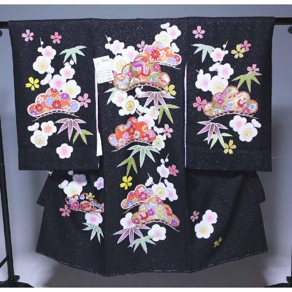 お宮参り祝着物(うぶぎ 掛け着物)女の子 736 手書き 極上品