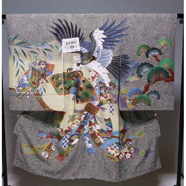 お宮参り祝着物(うぶぎ  掛け着物)男の子 617 疋田