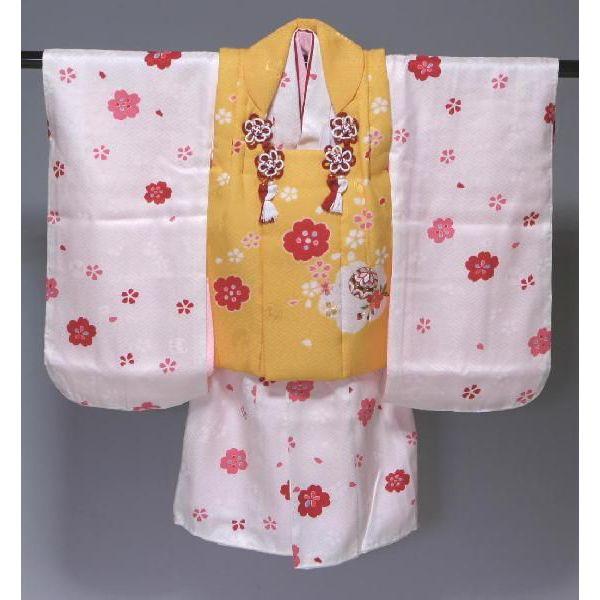 正絹七五三被布セット 三歳用三ッ身 日本製  612