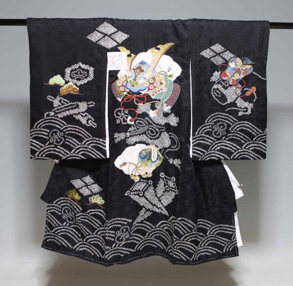 お宮参り祝着物(うぶぎ  掛け着物)男の子 本絞り 1036
