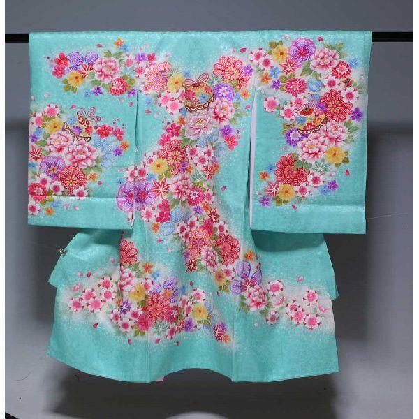 お宮参り祝着物(うぶぎ  掛け着物)女の子  988