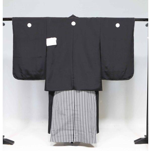 七五三 正絹 黒紋付き・羽織 袴セット上質品 15