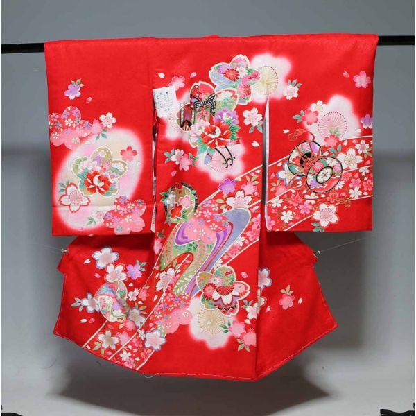 お宮参り祝着物(うぶぎ  掛け着物)女の子  1051