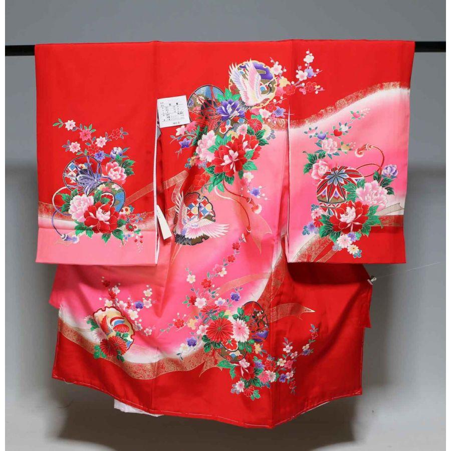 お宮参り祝着物(うぶぎ  掛け着物)女の子  1061