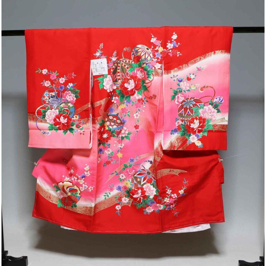 お宮参り祝着物(うぶぎ  掛け着物)女の子  1062