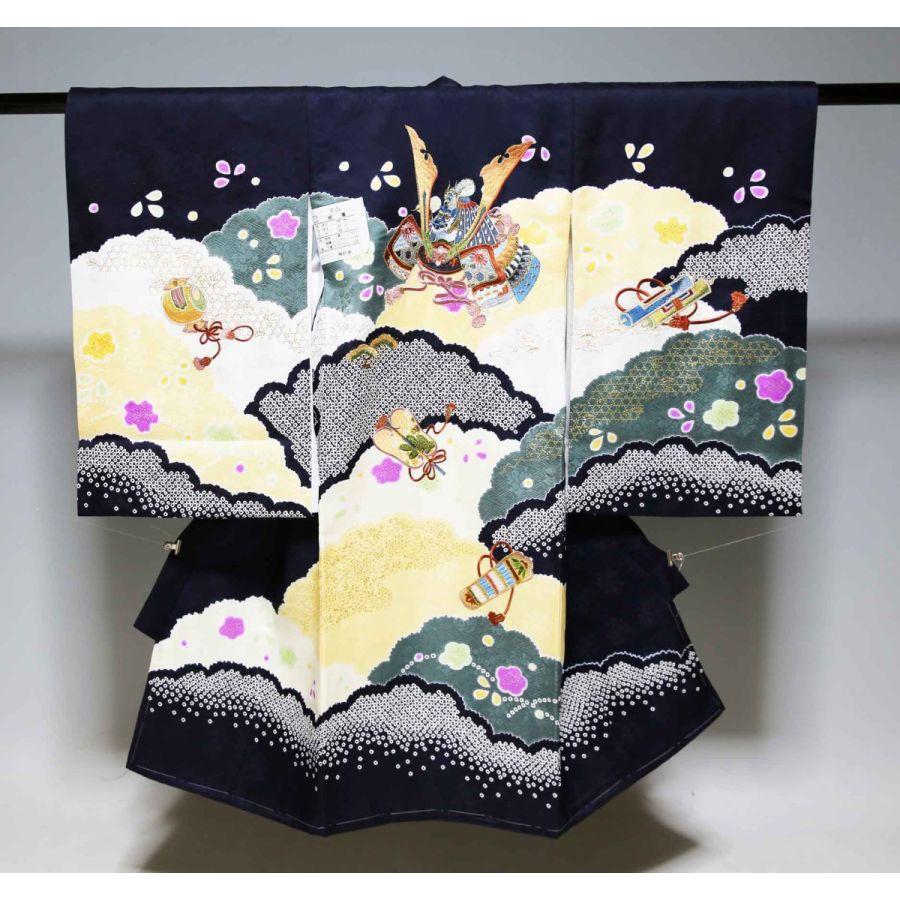 お宮参り祝着物(うぶぎ  掛け着物)男の子 刺繍805