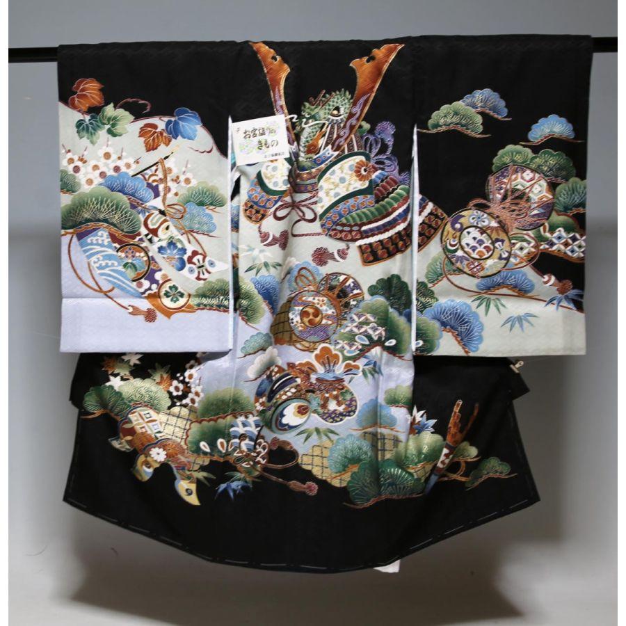 お宮参り祝着物(うぶぎ  掛け着物)男の子1513