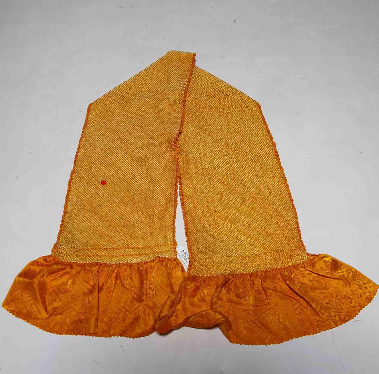 振袖用正絹総絞り帯揚げ 国産品 四つ巻き 訳あり品1201 送料無料 ※アウトレット品 クリックポスト発送