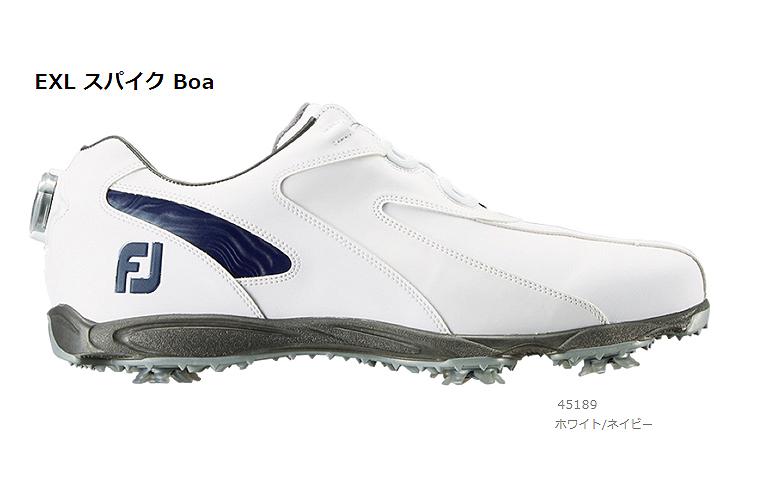 【★】New EXL Spike Boa (ニュー イーエックスエル スパイク Boa)【45189】ホワイト/ネイビー(W)FOOT JOY フットジョイ 日本モデル ゴルフシューズ【2019年NEW】