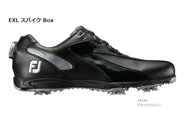 【★】New EXL Spike Boa (ニュー イーエックスエル スパイク Boa)【45190】ブラック/シルバー(W)FOOT JOY フットジョイ 日本モデル ゴルフシューズ【2019年NEW】
