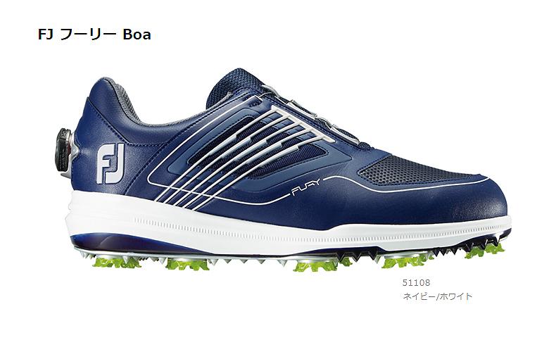【★】FJ FURY BOA (FJ フーリー Boa)【51108】ネイビー/ホワイト(W)FOOT JOY フットジョイ 日本モデル ゴルフシューズ【2019年NEW】