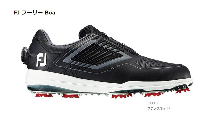 【★】FJ FURY BOA (FJ フーリー Boa)【51110】ブラック/レッド(W)FOOT JOY フットジョイ 日本モデル ゴルフシューズ【2019年NEW】