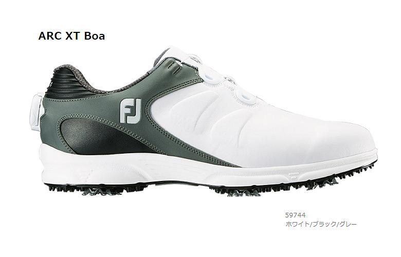 【★】FJ ARC XT Boa (FJ エーアールシー エックスティー Boa)【59744】ホワイト/ブラック/グレー(W)FOOT JOY フットジョイ 日本モデル ゴルフシューズ【2019年NEW】