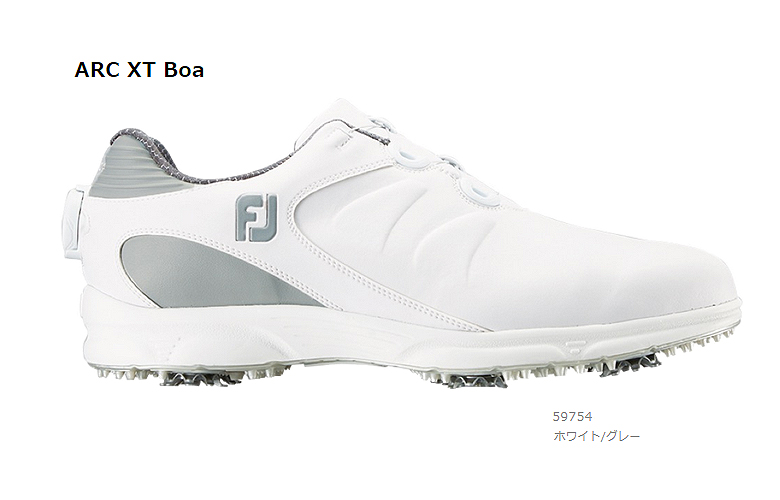 【★】FJ ARC XT Boa (FJ エーアールシー エックスティー Boa)【59754】ホワイト/グレー(W)FOOT JOY フットジョイ 日本モデル ゴルフシューズ【2019年NEW】