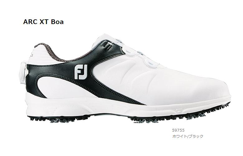 【★】FJ ARC XT Boa (FJ エーアールシー エックスティー Boa)【59755】ホワイト/ブラック(W)FOOT JOY フットジョイ 日本モデル ゴルフシューズ【2019年NEW】
