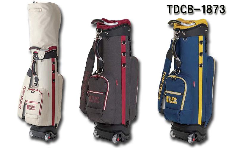 【★】朝日ゴルフ TURF DESIGN(ターフデザイン)キャディバッグ 【TDCB-1873】2019年モデル