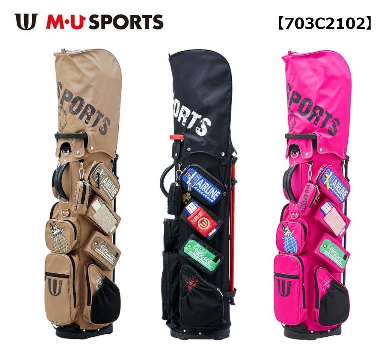 【◆】MU SPORTS キャディバッグ 【703C2102】 チケット柄 スタンド キャディバッグ【2020年春夏モデル】M・U SPORTS MUスポーツ