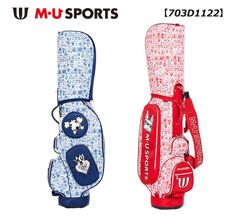 激安卸販売新品 MU SPORTS メキシカン総柄 選択 キャディバッグ U 703D11222021年春夏モデル M MUスポーツ