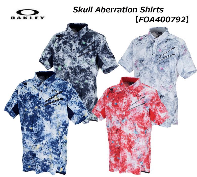 【◆】【今だからこそお値打ちに!】【FOA400792】オークリー Skull Aberration Shirts OAKLEY メンズ ゴルフ ウェア スカル 半袖 ポロシャツ 【2020年春夏モデル】【即納可】