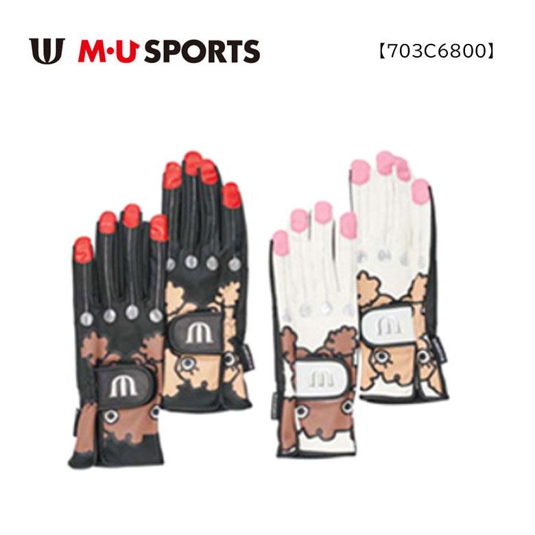 【◆】【703C6800】MU SPORTS グローブ 両手用 指先なし レディース ゴルフ 【2020年秋冬モデル】 M・U SPORTS MUスポーツ エムユースポーツ