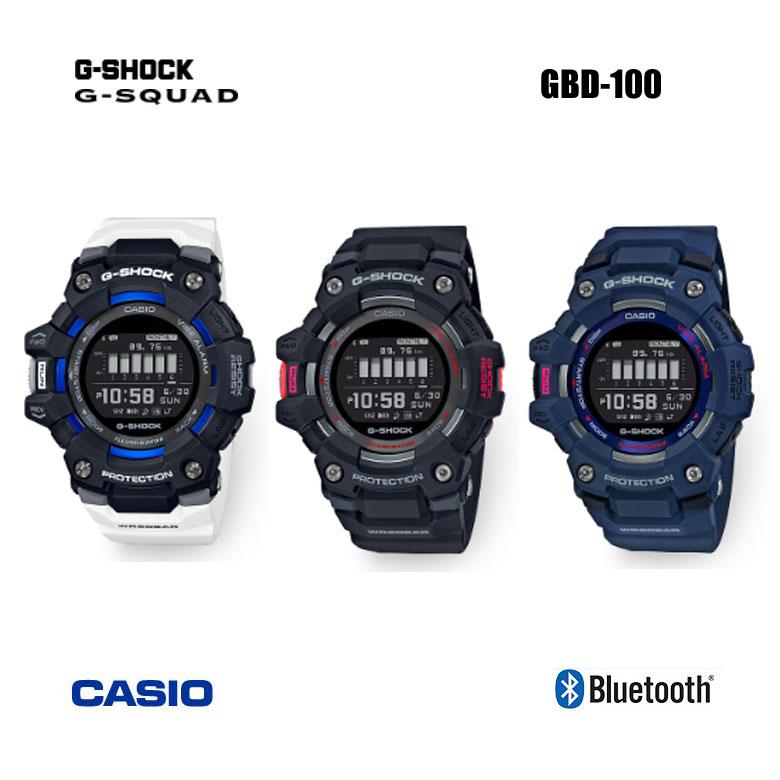 【◆】【納期がわかり次第ご連絡いたします。ご予約販売です。】カシオ GBD-100 G-shock G-SQUAD ウォッチcasio Gスクワッド Gショック ゴルフ腕時計 距離計測 耐衝撃 防水 歩数計【2020年モデル】