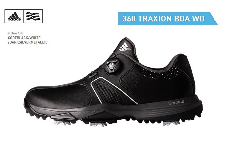 【★】アディダス 360 トラクション ボア WD【Q44728】adidas 360 Traxion BOA WDコアブラック/ホワイト/ダークシルバーメタリック【2017年】日本代理店モデル ゴルフシューズ