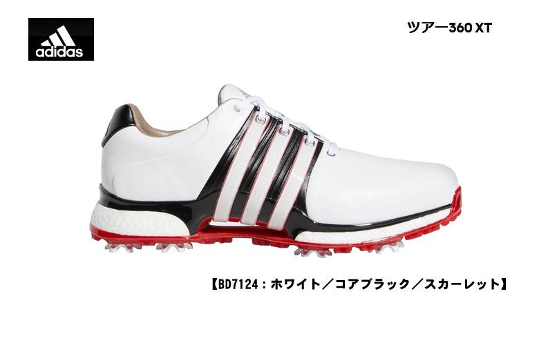 【★】アディダス ツアー360 XT 【BD7124】ADIDAS TOUR 360 XTホワイト/コアブラック/スカーレット日本正規品 ゴルフシューズ