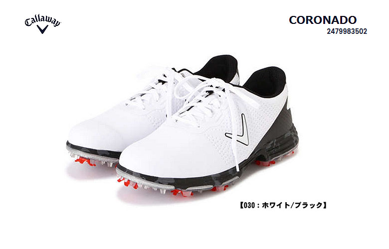 【◆】【247-9983502】キャロウェイ コロナドCallaway CORONADO 030:ホワイトブラック日本代理店モデル/キャロウェイ ゴルフシューズ(スパイク)(2479983502)【2019年モデル】