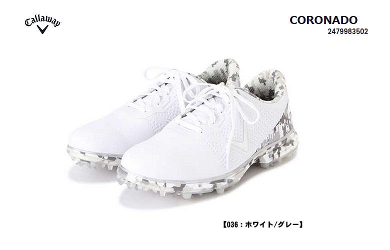 【◆】【247-9983502】キャロウェイ コロナドCallaway CORONADO 036:ホワイトグレー日本代理店モデル/キャロウェイ ゴルフシューズ(スパイク)2479983502)【2019年モデル】